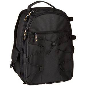 AmazonBasics Backpack for SLR/DSLR Camera and Accessories – 11 x 6 x 15 Inches, Black